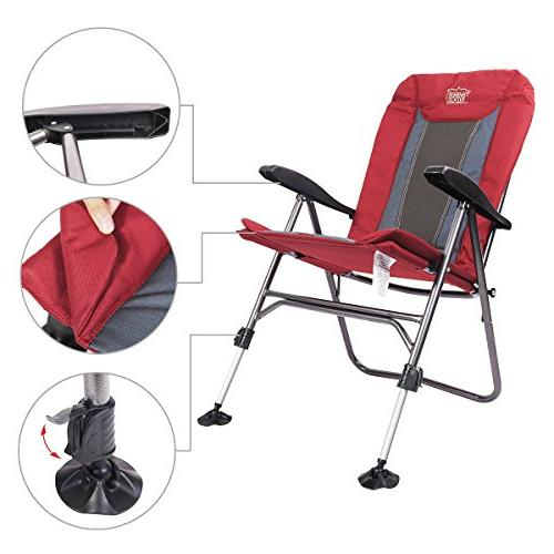 Timber Ridge Chair Adjustable Reclining Padded and Legs Supports 300lbs, Armrest,