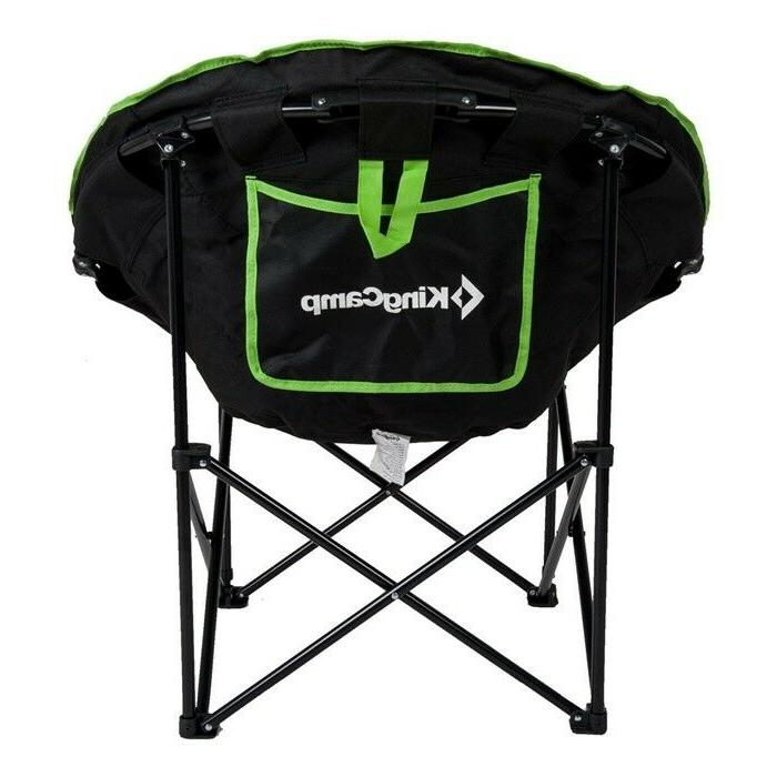 camping leisure chair padded round portable stable