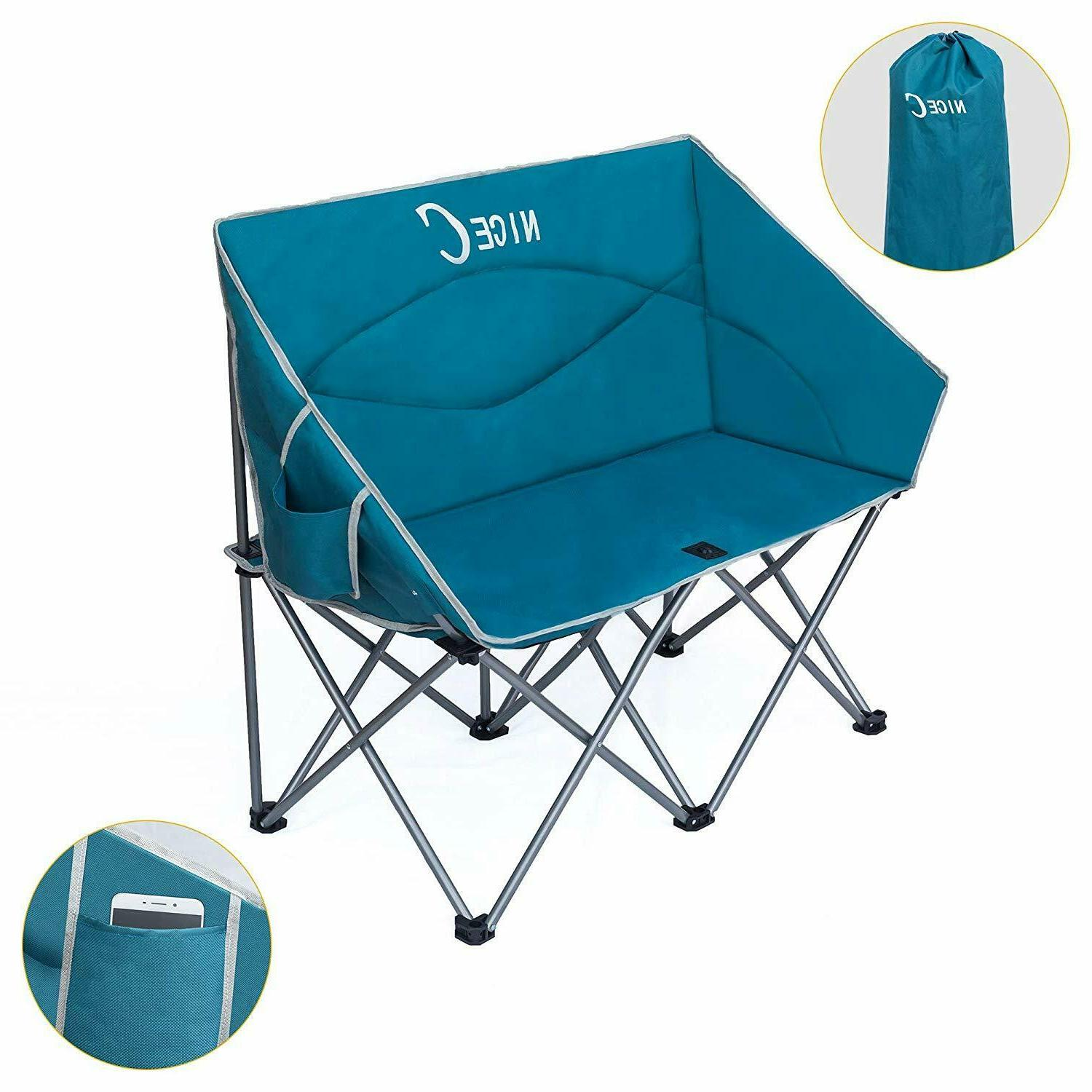 camping loveseat dual person conversation chair camping