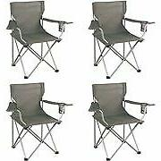 Ozark Trail Classic Folding Camp Chairs Set of 4 Camping Fur
