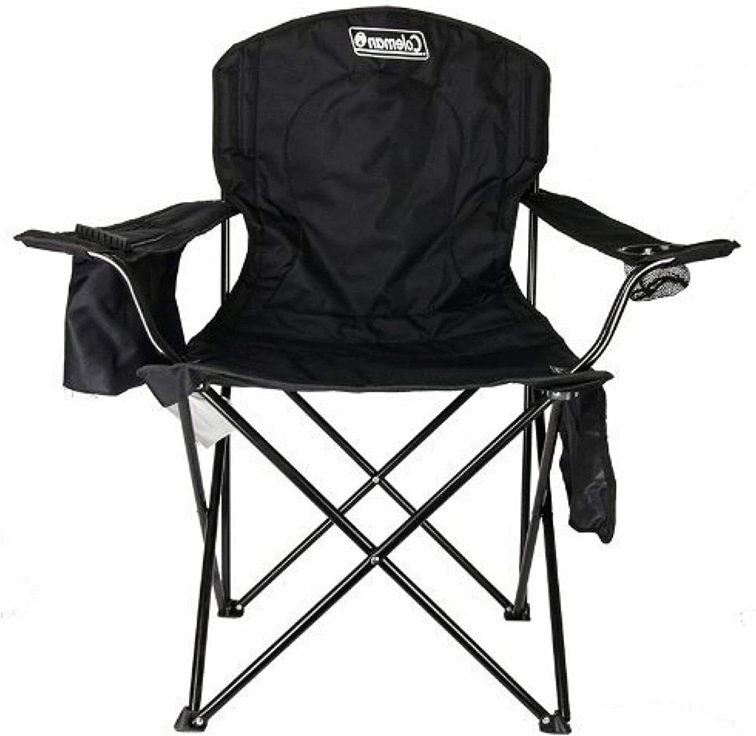 Coleman Camping Chair with Built-In 4-Can Cooler, Black