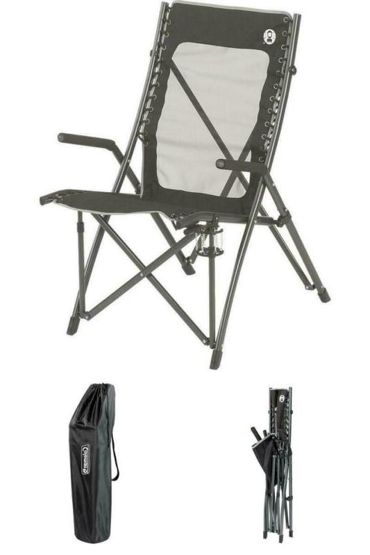 comfortsmart suspension camping chair with bag flexible