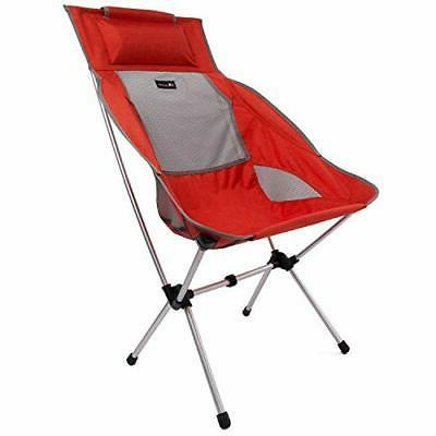 moon lence compact camping chair high back