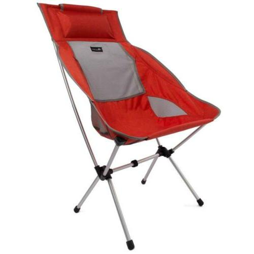 compact camping chair high back ultralight portable