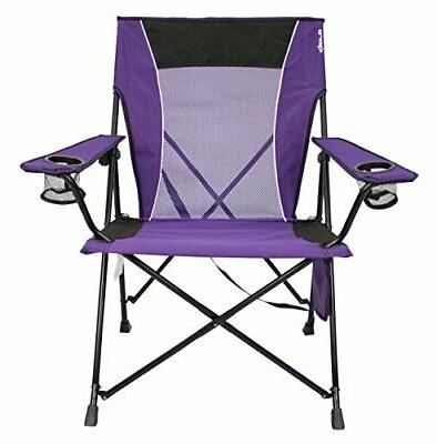 dual lock portable camping and sports chair