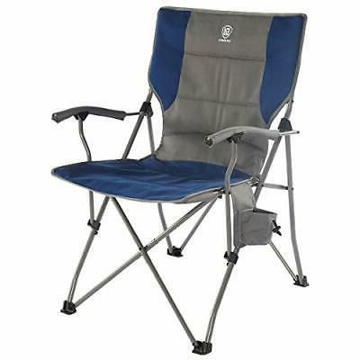 EVER ADVANCED Foldable Camping Chair Padded Arm Chair,Collap