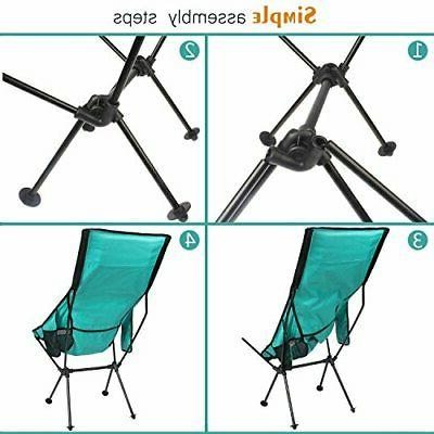 FBSPORT Camping Backpack Chair, New Lounge Chair-teal