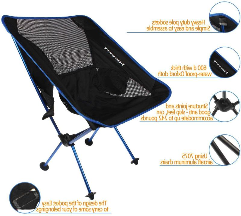 Fbsport Lightweight Camping Backpack Chair, Compact Duty Portabl
