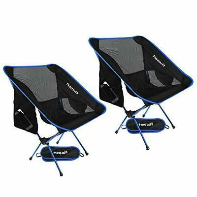 lightweight folding camping backpack chair compact 2pack