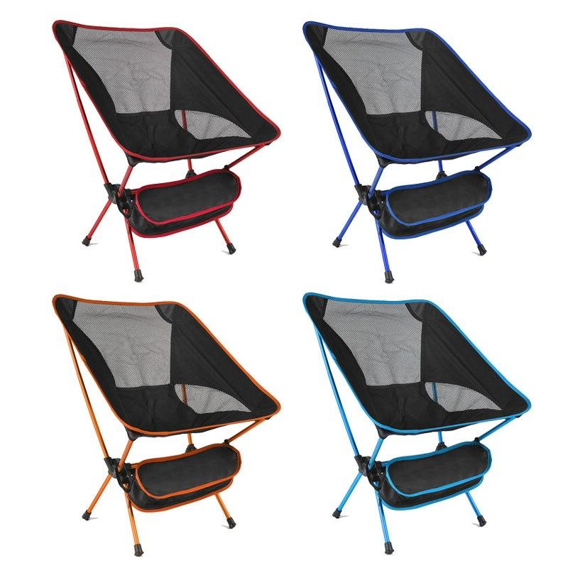 Foldable BBQ Hiking Ultra Light <font><b>High</b></font> Picnic <font><b>Seat</b></font> Folding <font><b>Chair</b></font>