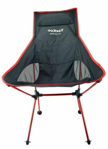 Foldable Chair for Hiking & Red