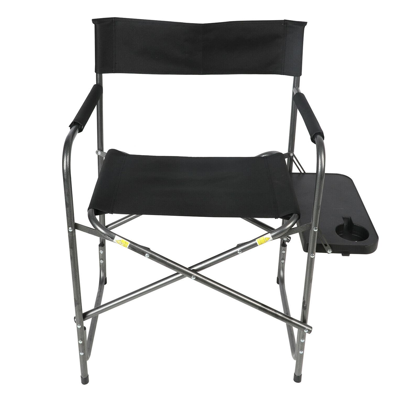 Foldable Director's Camping Seat Backyard Outdoor Lawn