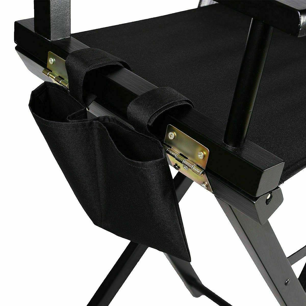 Foldable Wood Chair Makeup Weight w/ Side Bags