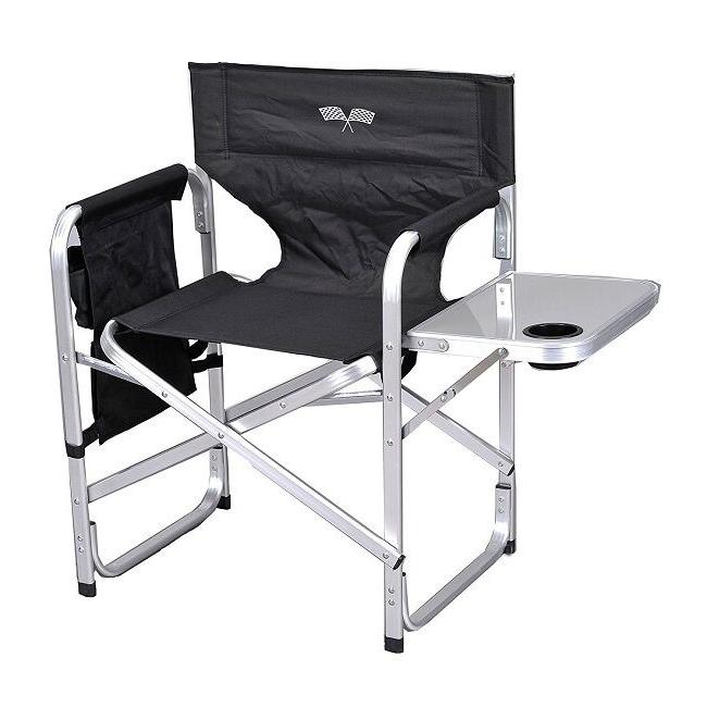 Folding Camping Chair Portable Camp Cup Holder Metal Directors