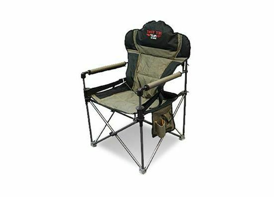 folding camping chair ripstop padded steel frame