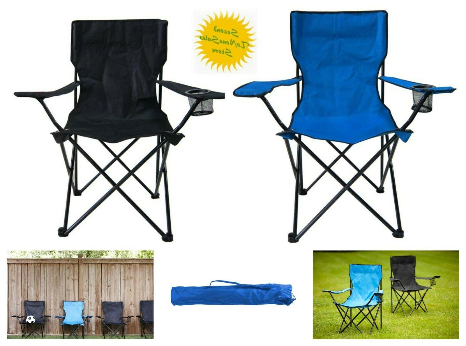 folding camping picnic chair beach outdoor steel