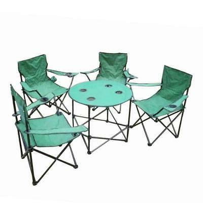 folding camping table and chairs set