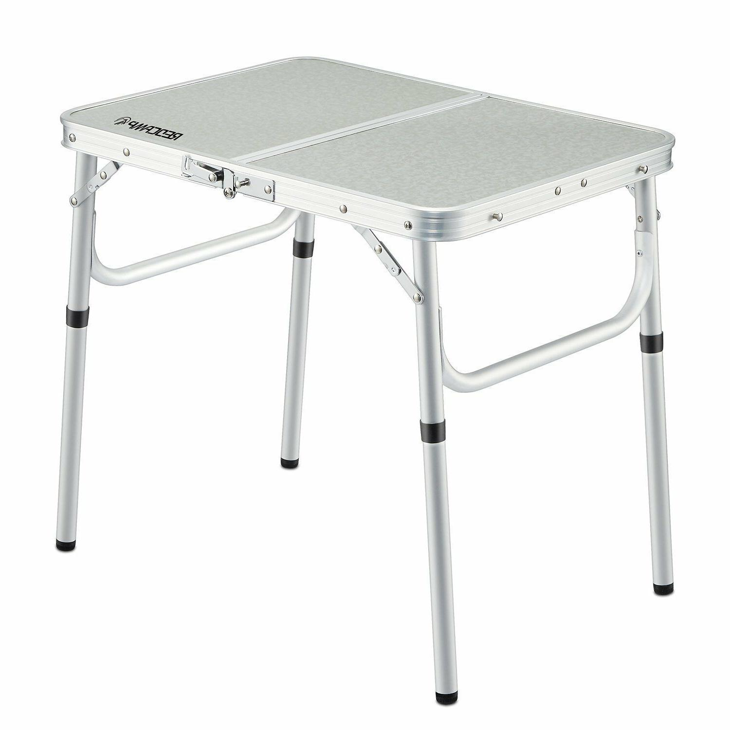 REDCAMP Camping Table Adjustable Picnic BBQ