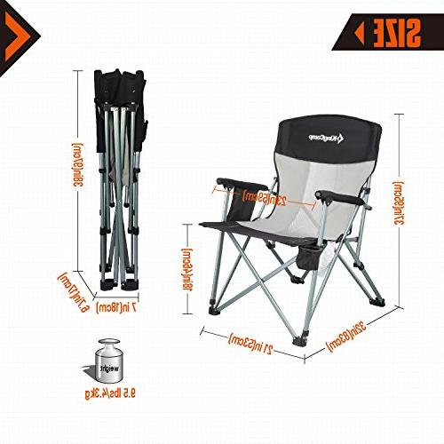 KingCamp High with Headrest Oversized Supports 330 lbs