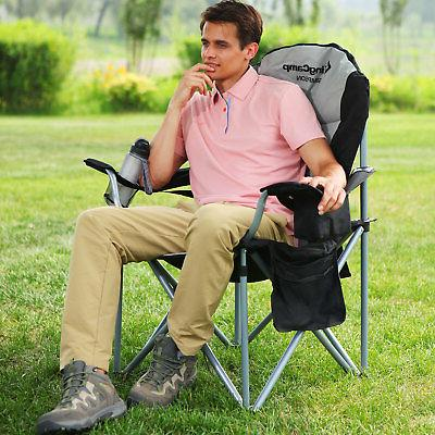 folding chair portable camping heavy duty lumbar