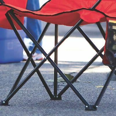 Coleman Folding with 4-Can Cooler Portable Outdoor Seat Beach