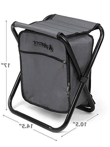 Folding and Stool Backpack Multifunction Collapsible Insulated Ice Padded by GigaTent