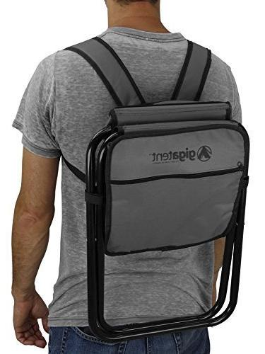 Folding Backpack Multifunction Collapsible Camping Insulated Bag with Padded Shoulder by