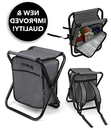 folding cooler stool backpack