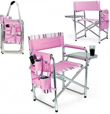 Picnic Time Folding Chair Sports Portable Outdoor Pink
