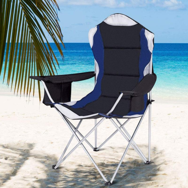 folding fishing camping chair with cup holder