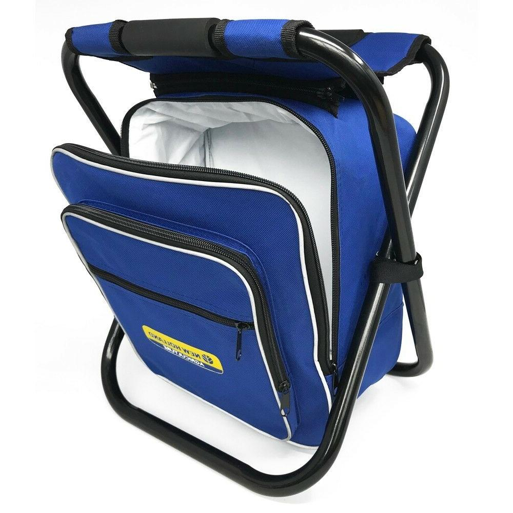 Folding Stool Insulated Bag Backpack Chair Picnic Fishing Camping Hiking