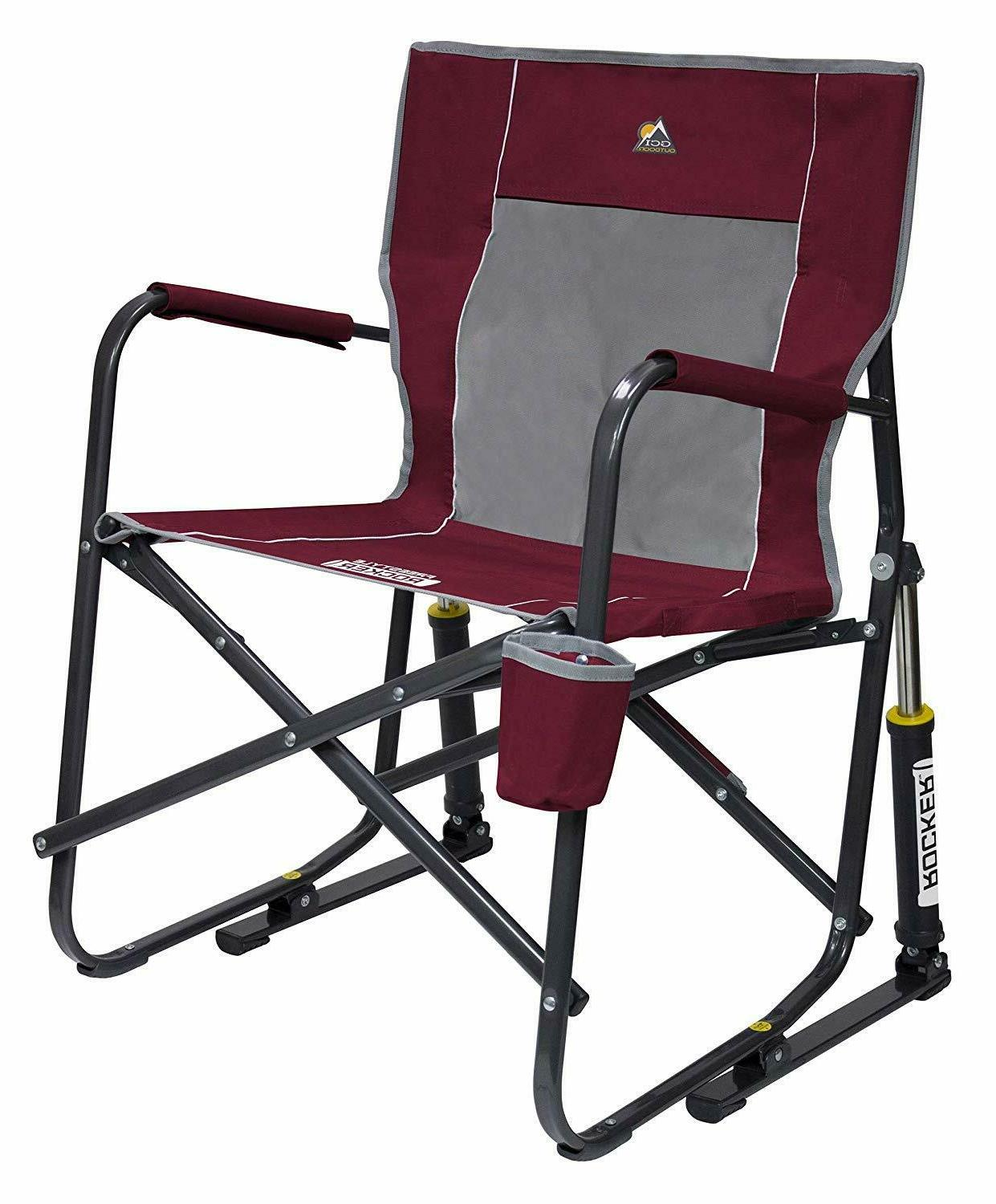 portable folding rocking chair camping lawn outdoor