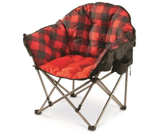 Swell Guide Gear Oversized Club Camp Chair 500 Lb Capacity Red Plaid Foldable Frame Andrewgaddart Wooden Chair Designs For Living Room Andrewgaddartcom