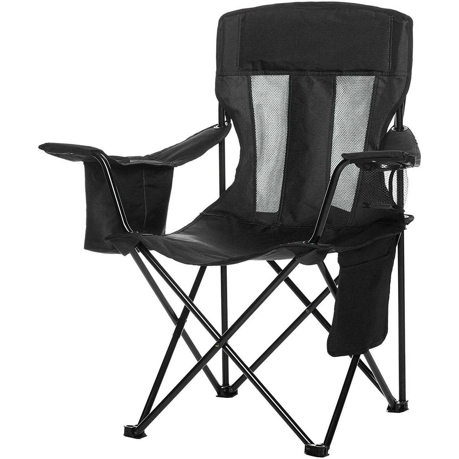 Heavy Camping Mesh Portable Camp Seat Black