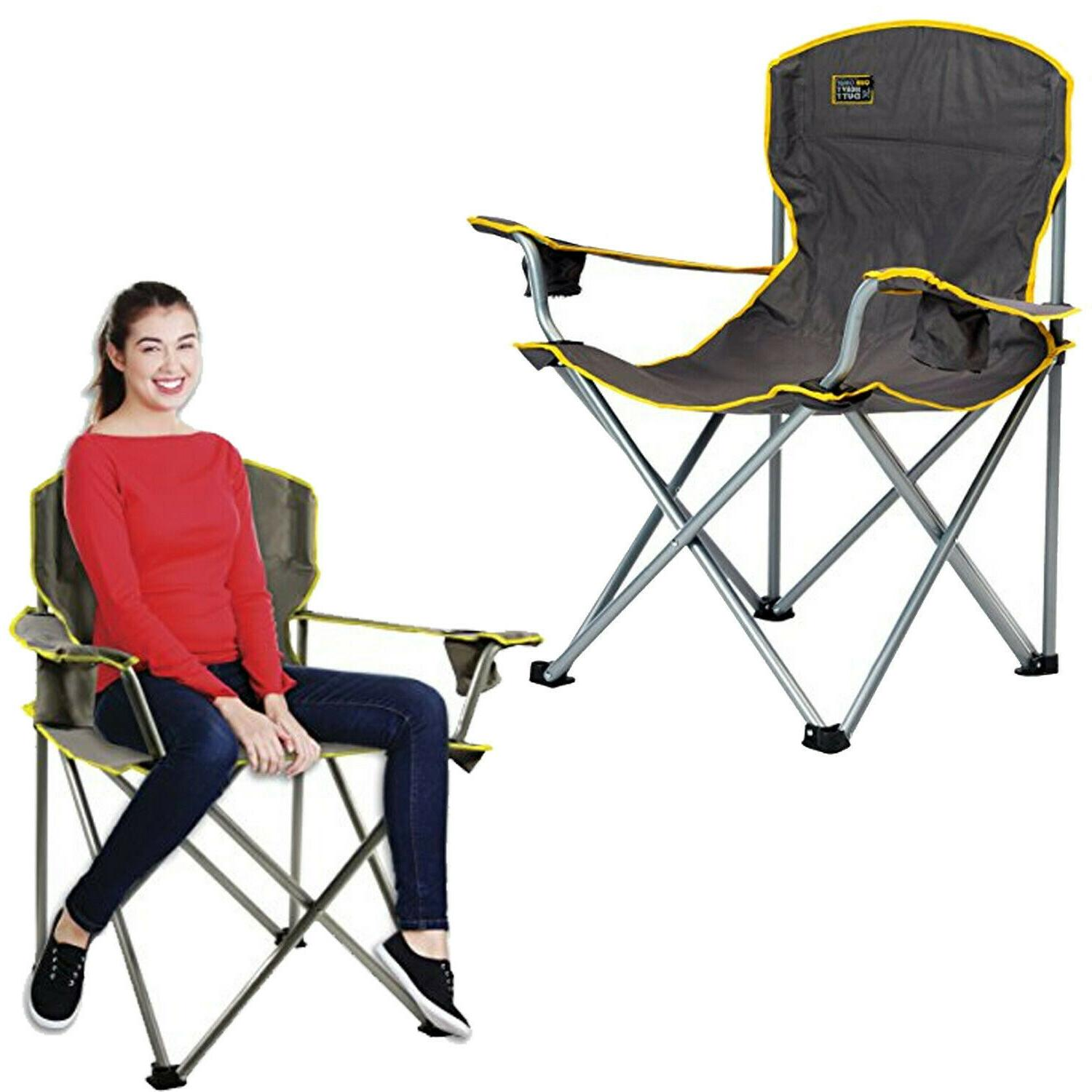 Heavy Duty Chair Sturdy Oversized Camping Portable Folding L