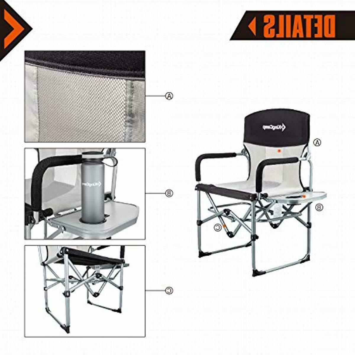 KingCamp Duty Camping Folding with Side Table and Handl