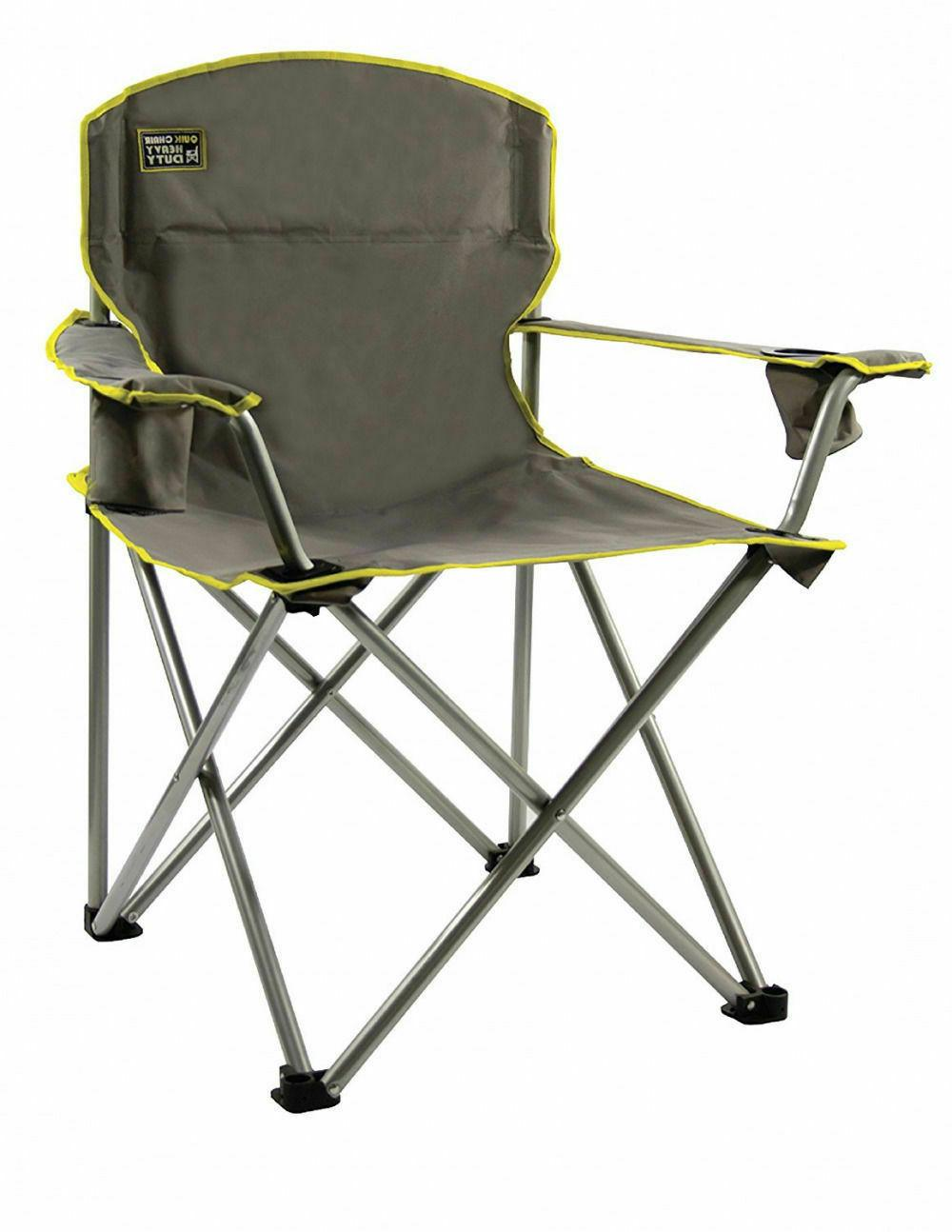 Heavy Camp Chair Outdoor Portable 500LBS Oversized
