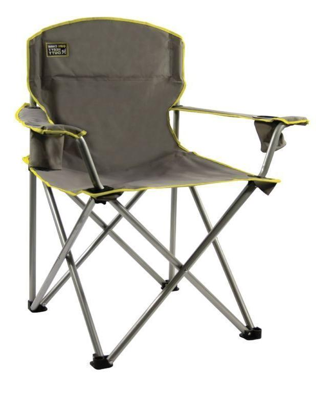 Heavy Camp Chair Portable 500LBS Camping Cup