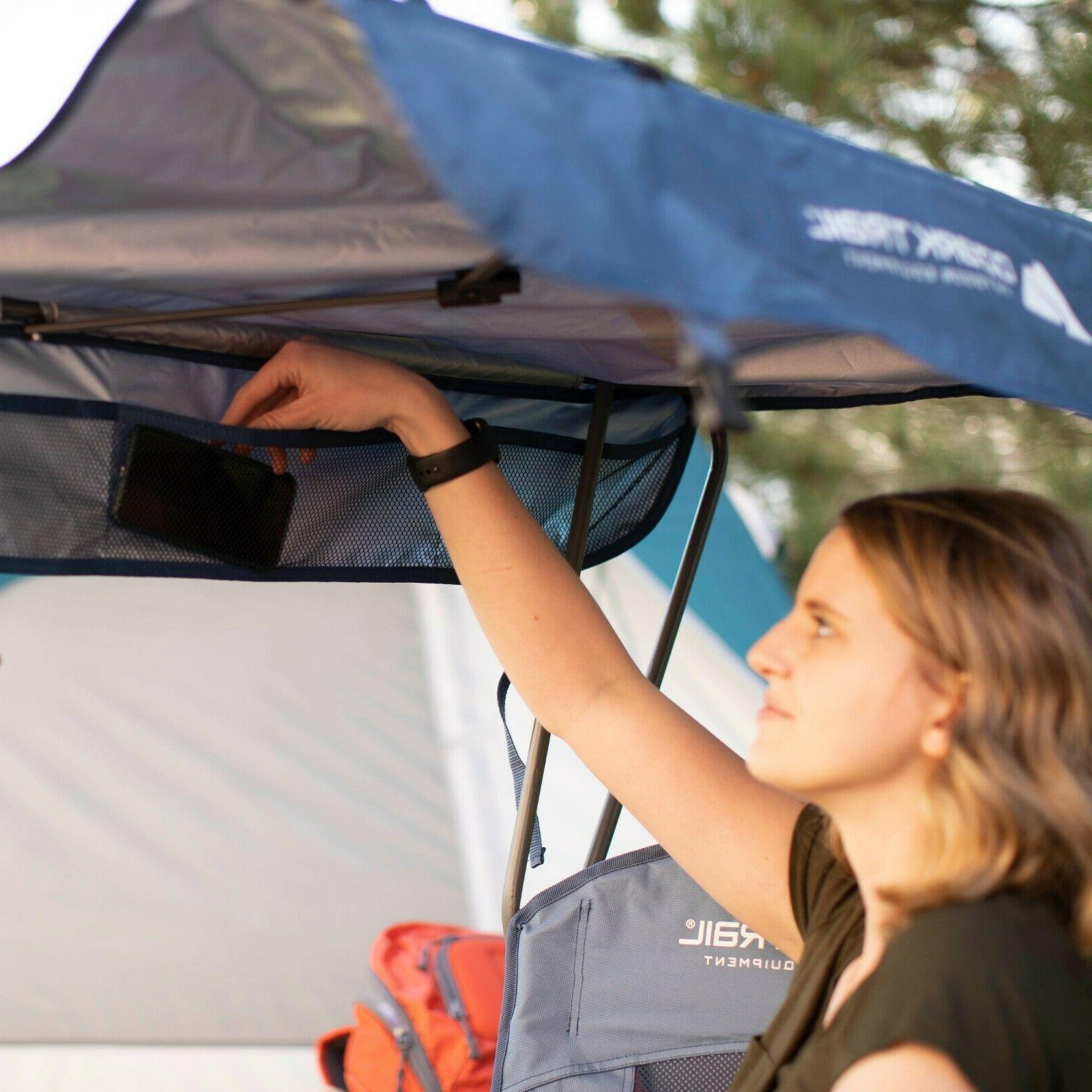 Heavy Camping Chair w Shaded Canopy For