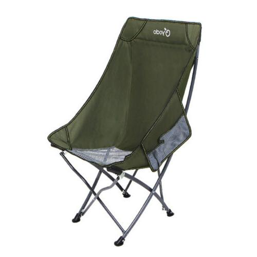 High Back Beach Chair Lightweight Compact Collapsible Chair