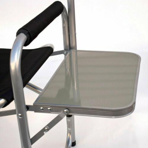 Heavy Duty Chair with Side Table Strong Camping