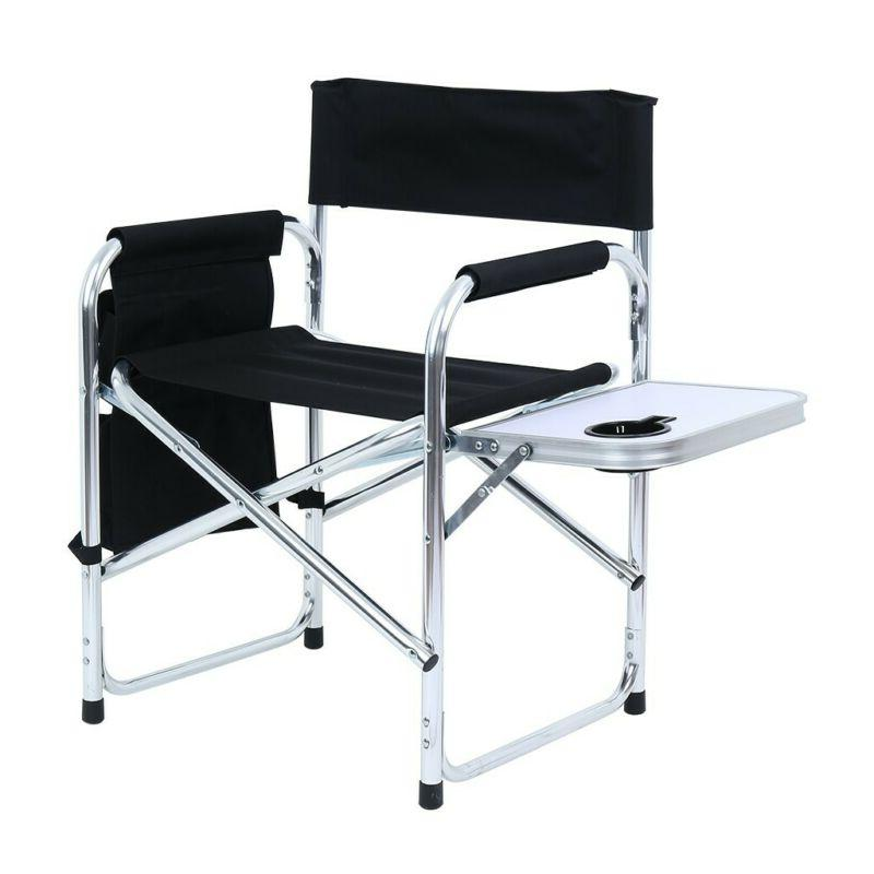 Heavy Duty Steel Camping Folding Director Chair With Cooler