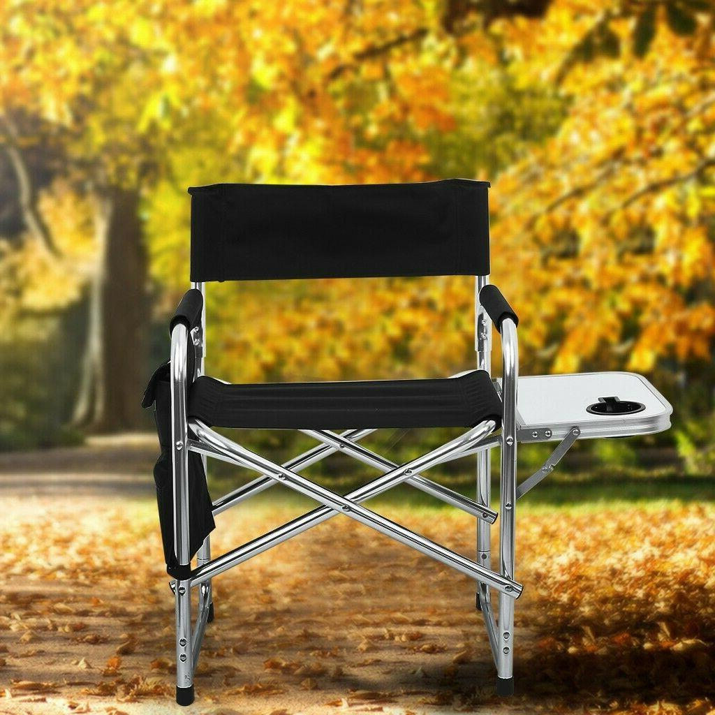 Heavy Folding Director Chair With Cooler Bag And Table