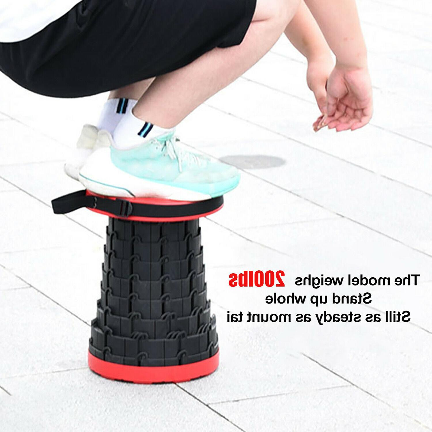 Outdoor Foldable Seat Portable Adjustable Chair Stand Stool