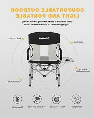 KingCamp Duty Compact Camping Folding Chair with Tabl