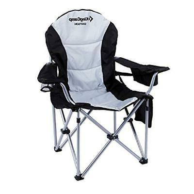 KingCamp Camping Chair Duty Back Support Oversized Arm P