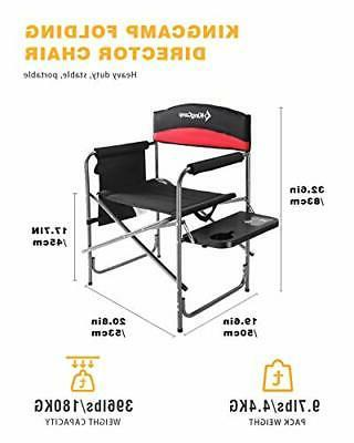 Folding Director Chair Padded Black/Red