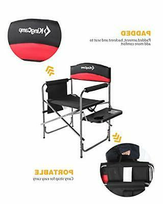 KingCamp Heavy Camping Folding Director Chair Padded