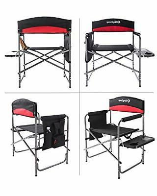KingCamp Heavy Duty Camping Folding Oversize Padded Black/Red