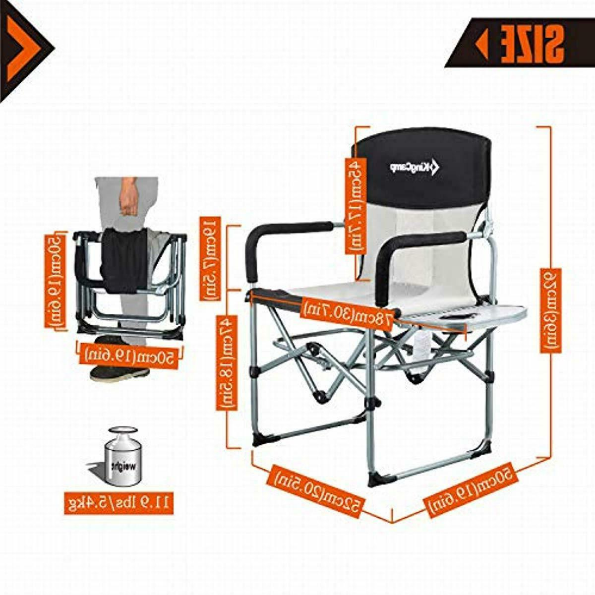 KingCamp Camping Folding Mesh with Side Table Handl